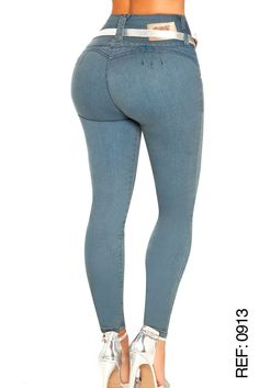 BUTT LIFTER COLOMBIAN SKINNY JEANS IN MEDIUM BLUE COLOR  #0913 BY VEROX #VEROXJEANSCOLOMBIANBRAND #SKINNYJEANS