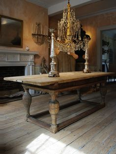 Salvaged Wood Columns  Provence Extending Trestle Dining Table Stunning Antique Dining Room Table And Chairs Design Inspiration