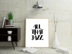 Music Quote Print Art Music Quote Poster Minimalist by OjuDesign