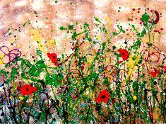 PRATO, splash acrylic colors technique, 120x70cm