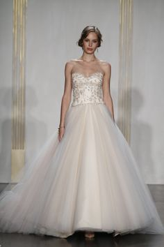 Pink #wedding dresses ideas and inspirations