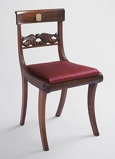 Scroll-Back Klismos Side Chair with Grecian Front Legs  United States, New York, New York City, circa 1810-1820, LACMA Collections Online