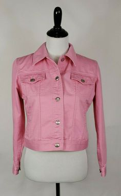 06ea55a1f6 LAUREN JEAN CO. Ralph Lauren Women s Petite PS Pink Denim Trucker Jean  Jacket  RalphLauren