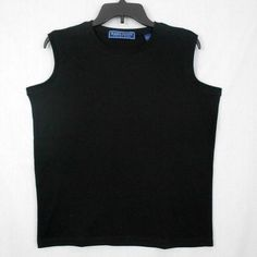 This Karen Scott Cotton Rich 60% Cotton 40% Polyester sleeveless top has rib knit crew neck and armhole edges and a straight, relaxed fit!  It would be great for either career or casual wear. #KarenScottKnitTop www.bevsthisnthatshop.com
