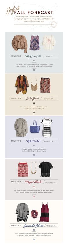 Ready for fall? So are we! See a sneak peek into the major trends our Stitch Fix Stylists from all over the country are obsessing over. From Pittsburgh to Los Angeles, here's what our Stylists can't wait to select for your fall Fixes.
