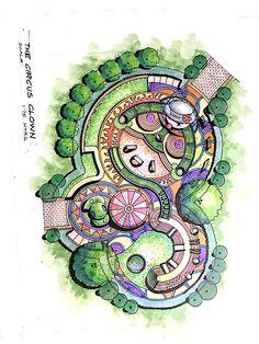 Garden Design Plans - New ideas Landscape Architecture Drawing, Architecture Concept Drawings, Landscape Design Plans, Garden Design Plans, Landscape Sketch, Landscape Concept, Landscape Drawings, Architectural Drawings, House Landscape