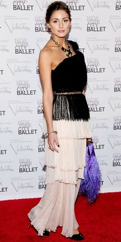 Olivia Palermo in a ballet pleatted gown