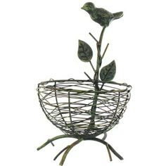 "Hobby Lobby Metal Standing Birds Nest $12.99 Dimensions:    Length: 9""; Width: 5 1/2""; Depth: 5 1/2"""