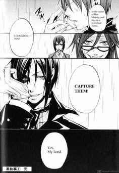 Black Butler Manga. thing eyes, lines, faces, hair