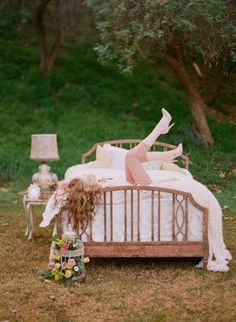 a bed in the woods is literally one of my most romantic dreams. It is yet to happen in my life. #fairytale