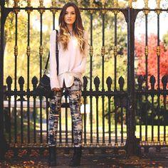 must get me one of those crazy painted pants!! >>Rustic Demin. (by Anouska Proetta Brandon) http://lookbook.nu/look/4175518-Rustic-Demin