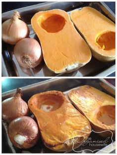 super easy pumpkin soup - Donna Hay - add some cream and croutons  - pass it through sieve for extra smooth, velvety    soup