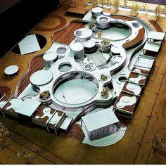 Concept Models Architecture, Form Architecture, Architecture Presentation Board, School Floor Plan, Circular Buildings, Kindergarten Design, Arch Model, Plate Design, Green Building