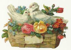 victorian flower basket scraps - Google Search