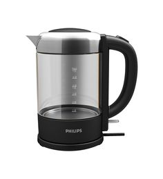 Philips HD9340/90 Glass Kettle, 2200 W, 1.5 Litre.  There are quite a few glass wall electric kettles out there - this one is reasonably priced and quite attractive.  Not sure how good it would look at after a time in a hard water area.  £45