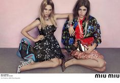 French Beauties Léa Seydoux & Adèle Exarchopoulos star in Miu Miu's Resort 2014 Campaign.