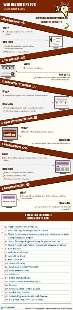 #WebDesignTips for small #businesses.