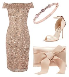 """""""Untitled #125"""" by gildaronca on Polyvore featuring Adrianna Papell, Sophia Webster, Oscar de la Renta and Givenchy"""