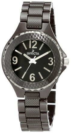 Invicta Women's 1160 Black Dial Brown Ceramic Watch *** Read more reviews of the…