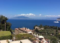 The view from our bedroom of Vesuvius whilst at the Hotel Capodimonte in Sorrento. My breathe was taken away.
