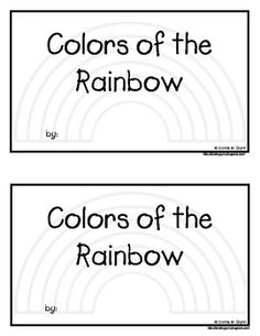 This emergent reader works with color words and the rainbow.