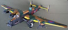 050 Royal Air Force Handley Page Halifax aircraft Paper Model detail version