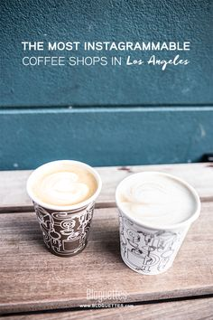 Finding that perfect simmering cup of java is no joke. If you live in the City of Angels, zip on over to the blog to see our list of the most Instagrammable coffee shops in Los Angeles! | @Bloguettes  #coffee