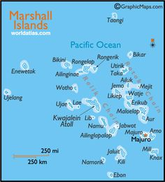 Marshall Islands. ( been there) Kwajalein to be exact.