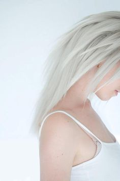 White Hair, In this world I want hair colors to be able to be naturally bright. #geneticmutation