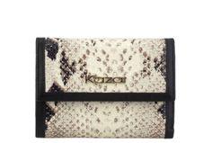 Beżowo-czarny portfel