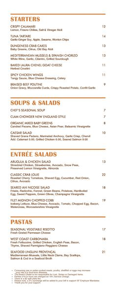 Beach Chalet San Francisco: main menu page 1
