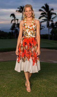 Elizabeth Banks - vestido floral plissado LUV!