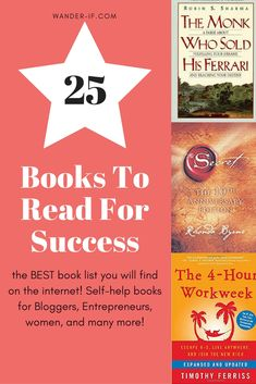 Top 25 BEST books to read for success. Learn from successful entrepreneurs what other successful people are learning today! This book list is a must read list if you want to change your whole life. Don't miss these gems. Don't limit your success. Personal growth is made fun and easy with this book list.