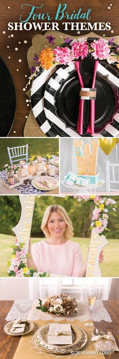 Celebrate the bride by curating a custom bridal shower with decor elements that fit her style!
