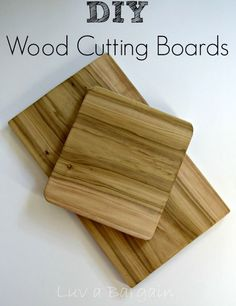 DIY Wood Cutting Boards are so easy to make and make a wonderful gift.