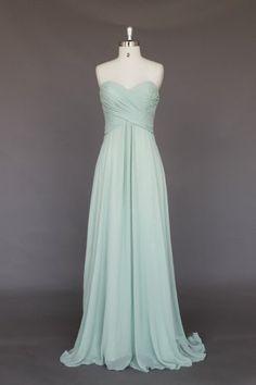 Custom Made Floor Length Sweetheart Empire Prom Dress Long Bridesmaid Dress