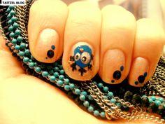 blue chicken nails