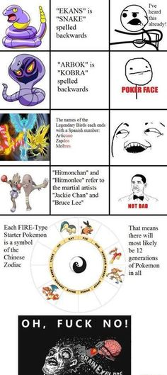 That last one got me....Though I would really love to see a dog fire Pokemon :)