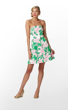 Amberly Dress in Prep Green Pink Twinkle $228 (#8 - w/o 3/18/12)