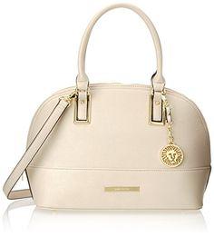 Anne Klein Shimmer Down Satchel Handbag, Vanilla Bean, One Size Anne Klein amazon.com