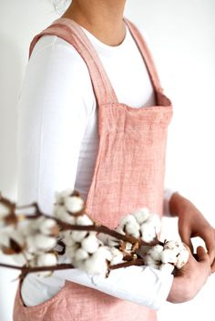 Naturally Dyed Japanese Apron with front pocket Selling Crochet, Japanese Apron, Linen Apron, Everyday Activities, Crochet Designs, Design Awards, Slow Fashion, Signature Style, Thoughtful Gifts