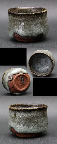 鈴木 伸治 1976 岐阜市に生まれる 2000 多治見市陶磁器意匠研究所 修了 現在、多治見市にて制作 ある方から戴いたぐい呑です 洒落心で作ったという小さなぐい呑です (4.9×H3.6)