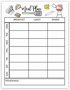 Check out my website for an entire resource library of printable for everyone! Weekly Meal Plan Template, Meal Planner Template, Student Planner Printable, Meal Planning Printable, Weekly Planner, Life Planner, Planner Ideas, Bullet Journal Set Up, Get My Life Together