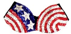 Happy Birthday John F. Kennedy! For you, we have chosen this patriotic sequin bra :)   www.brayola.com