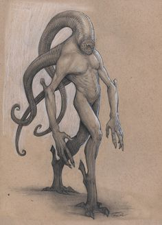Lamprey by Mavros-Thanatos demon devil H.P. Lovecraft monster beast creature animal   Create your own roleplaying game material w/ RPG Bard: www.rpgbard.com   Writing inspiration for Dungeons and Dragons DND D&D Pathfinder PFRPG Warhammer 40k Star Wars Shadowrun Call of Cthulhu Lord of the Rings LoTR + d20 fantasy science fiction scifi horror design   Not Trusty Sword art: click artwork for source