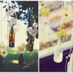 Could just use old beer bottles for center piece or something - not sure if this is tacky or really clever??