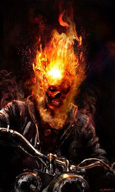 Ghost Rider: Spirit of Vengeance Concept Art by Jerad S. Marvel Comics Art, Marvel Comic Books, Marvel Heroes, Comic Books Art, Comic Art, Comic Pics, Punisher Marvel, Ms Marvel, Captain Marvel