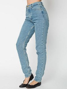 Medium Wash High-Waist Jean - American Apparel