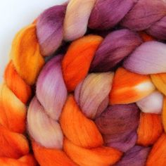 FLAME   Merino Wool Top Roving 4oz by SpunRightRound on Etsy, $16.00