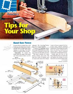Band Saw Fence Plans - Band Saw Tips, Jigs and Fixtures | WoodArchivist.com